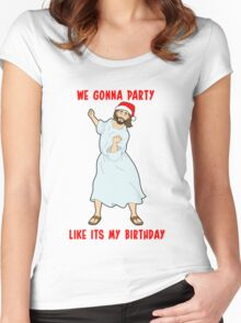 GO JESUS! ITS YOUR BIRTHDAY! Women's Fitted Scoop T-Shirt