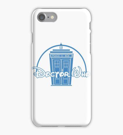 """Doctor Who"" Tardis Police Box Disney Logo Style Spoof iPhone Case/Skin"
