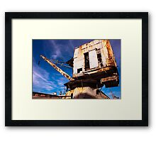 Old crane... did they really looked like that !! Framed Print