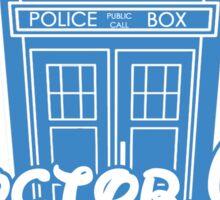"""Doctor Who"" Tardis Police Box Disney Logo Style Spoof Sticker"