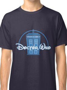 """Doctor Who"" Tardis Police Box Disney Logo Style Spoof Classic T-Shirt"