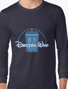 """Doctor Who"" Tardis Police Box Disney Logo Style Spoof Long Sleeve T-Shirt"