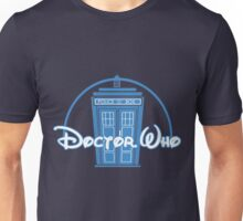 """Doctor Who"" Tardis Police Box Disney Logo Style Spoof Unisex T-Shirt"