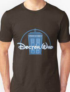 """Doctor Who"" Tardis Police Box Disney Logo Style Spoof Unisex T-Shirt"