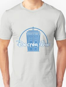 """Doctor Who"" Tardis Police Box Disney Logo Style Spoof T-Shirt"