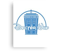 """Doctor Who"" Tardis Police Box Disney Logo Style Spoof Canvas Print"