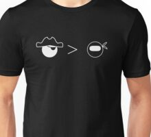 Pirates Greater Than Ninjas Unisex T-Shirt