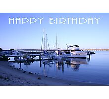 "Forster NSW Australia - ""Happy Birthday"" Card Photographic Print"