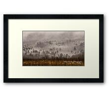 Surrounded by Snow in Cades Cove Framed Print