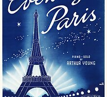 EVENING IN PARIS (vintage illustration) by ART INSPIRED BY MUSIC