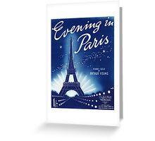 EVENING IN PARIS (vintage illustration) Greeting Card