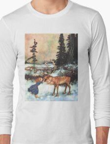 Reindeer Kiss christmas design Long Sleeve T-Shirt