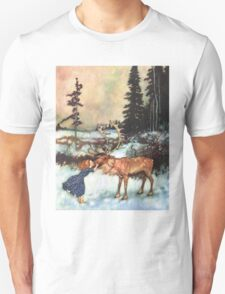 Reindeer Kiss christmas design T-Shirt