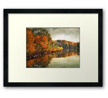 October Reflections Framed Print
