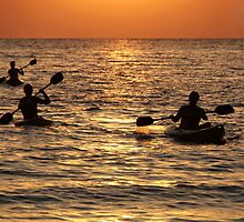 Kayaking at Sunset Palolem by SerenaB