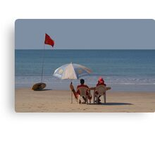Life Guards on Palolem Beach Canvas Print