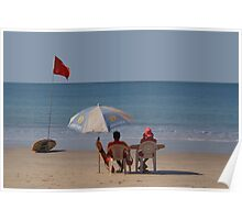 Life Guards on Palolem Beach Poster
