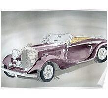 Bentley Drophead 1934 Poster