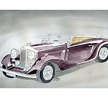 Bentley Drophead 1934 Photographic Print