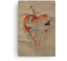 Love on the Beach Palolem Canvas Print