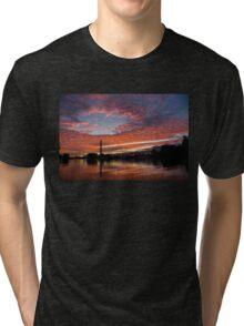Vivid Skyscape - Summer Sunset at Toronto Beaches Marina Tri-blend T-Shirt