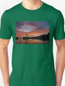 Vivid Skyscape - Summer Sunset at Toronto Beaches Marina Unisex T-Shirt