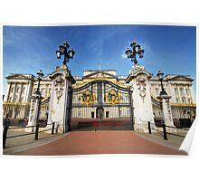 Gates Of Buckingham Palace Poster
