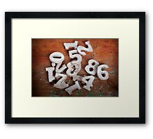 Numbers I Framed Print