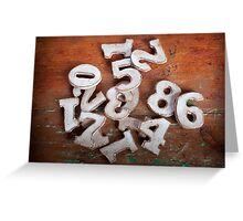 Numbers I Greeting Card