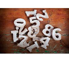 Numbers I Photographic Print