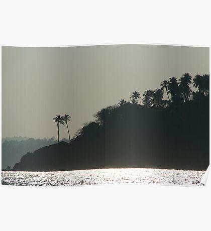 Palm Trees on Monkey Island Poster