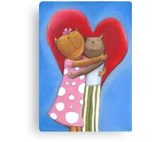 Mauz in Love Canvas Print
