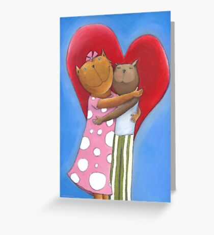 Mauz in Love Greeting Card