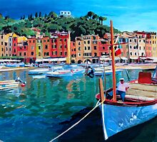 Tranquility in the Harbour of Portofino by artshop77