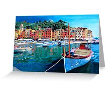 Tranquility in the Harbour of Portofino Greeting Card