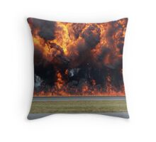 Wall of flames Throw Pillow