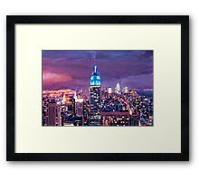 Empire State Building Feeling Like A Blue Giant Framed Print