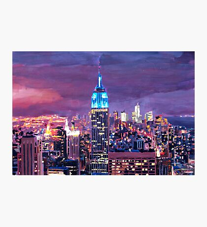 Empire State Building Feeling Like A Blue Giant Photographic Print