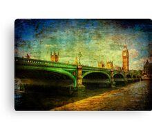 Westminster Bridge & Big Ben Canvas Print