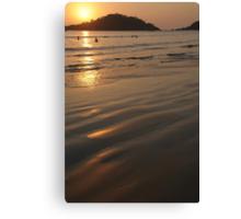 Swimming at Sunset Palolem Canvas Print