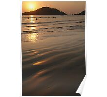 Swimming at Sunset Palolem Poster