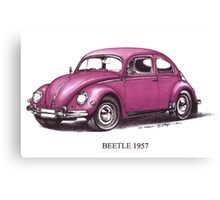 Volkswagen Beetle 1957 Canvas Print