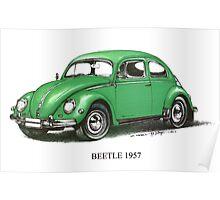 1957 Volkswagen Beetle  Poster