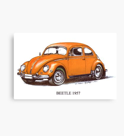1957 Volkswagen Beetle Canvas Print