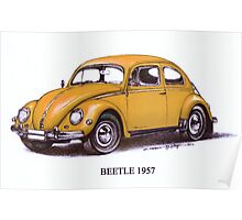 1957 Volkswagon Beetle Poster