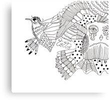 Bird and Howl creativity couple Canvas Print
