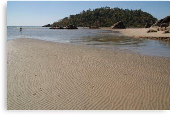 Walking Towards Monkey Island Palolem by SerenaB