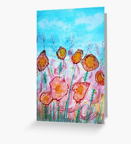 Floral Vibrant Greeting Card
