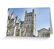 Part View Of Exeter Cathedral- Exeter, Devon Greeting Card