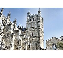 Part View Of Exeter Cathedral- Exeter, Devon Photographic Print